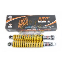 Амортизатор задний 330мм на китайский скутер 125/150 кубов [152QMI/157QMJ] мягкий желтый