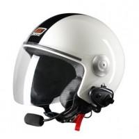 Шлем (открытый со стеклом) Origine Pronto Tony белый глянцевый