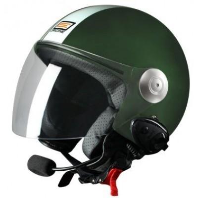 Шлем (открытый со стеклом) Origine Pronto Tony зеленый матовый