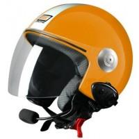 Шлем (открытый со стеклом) Origine Pronto Tony оранжевый белый глянцевый