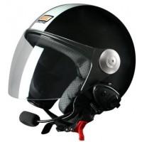 Шлем (открытый со стеклом) Origine Pronto Tony черный глянцевый