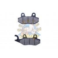 Колодки дискового тормоза на китайский скутер 125/150 кубов [152QMI/157QMJ] [ухо влево]
