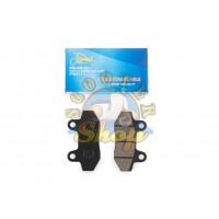 Колодки дискового тормоза на китайский скутер 125/150 кубов [152QMI/157QMJ][двухпоршневой суппорт]