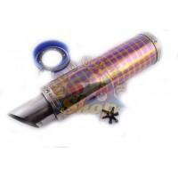Глушитель (тюнинг) 420*100mm, креп. O78mm (нержавейка, квадраты, прямоток, mod:19)