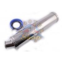 Глушитель (тюнинг) 420*100mm, креп. O78mm (нержавейка, хром, прямоток, mod:11)