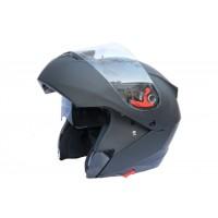 Шлем JIEKAI-111 (модуляр) с солнцезащитными очками (черный)
