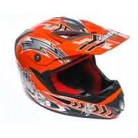 Шлем  SAFEBET Кроссовый  (оранжевый)