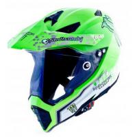 Шлем  WLT-128 Кроссовый (мотард) зеленый/Monster