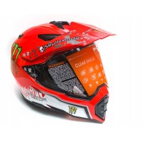 Шлем WLT-128 Кроссовый (мотард) красный/Monster