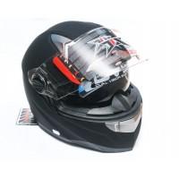 Шлем JIX FF001 (интеграл) с солнцезащитными очками (черный)