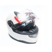 Шлем JIX FF001 (интеграл) с солнцезащитными очками (белый)