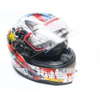 Шлем JIX FF001 (интеграл) с солнцезащитными очками (цветной)
