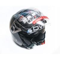 Шлем JIX OP-02 (открытый) с солнцезащитными очками (черный)
