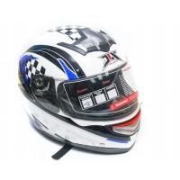 Шлем JIX A5003 (интеграл) бело-синий