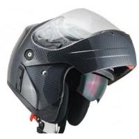 Шлем JIEKAI-111 (модуляр) с солнцезащитными очками (карбон)