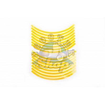 Наклейка на колесо 10 декор [16шт/Желтая]