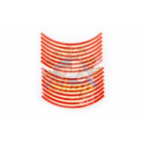 Наклейка на колесо 10 декор [16шт/Оранжевая]