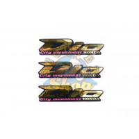 Наклейки (набор) HONDA DIO  (13х3см, 3шт, золотистые)