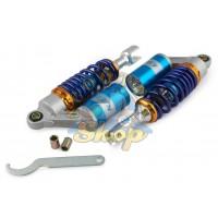 Амортизатор задний 280мм на скутер [Универсальный] с подкачкой [Синий] NDT