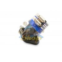 Патрубок карбюратора 139QMB 5080сс (стайлинг) синий.