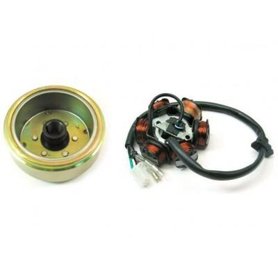 Генератор 152QMI,157QMJ 125-150cc (5+1катушек) + магнит генератора