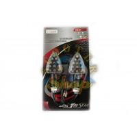 Повороты светодиодные (пара) (15 LED, черные, белое стекло)