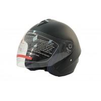 Шлем (открытый со стеклом) MO120 Black Mate (M) MICHIRU