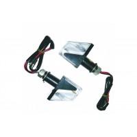 Повороты светодиодные (пара) ТИП 2 (черные, белое стекло)