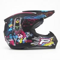 Шлем WLT-125 Кроссовый Red Bull 2 черный